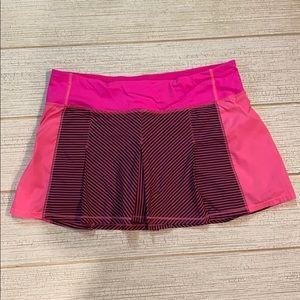 Lululemon Fast Cat Hyper Stripe Skirt (size 8)